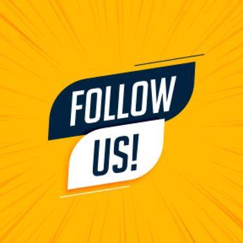 follow us modern social media banner