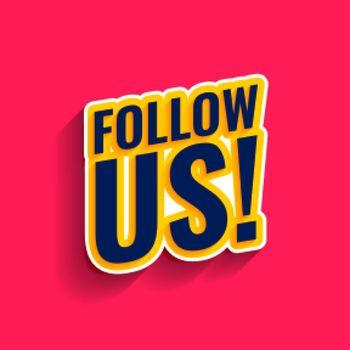 follow us on social media banner