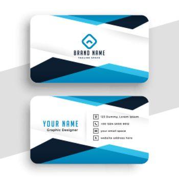 geometric professional business card design