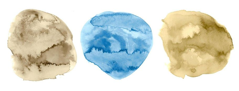 hand painted circular watercolor texture background