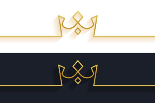 minimalist line crown concept background