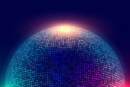 shiny disco ball music background