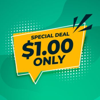 special dollar one only deal and sale banner