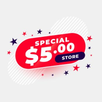 special dollar five store banner