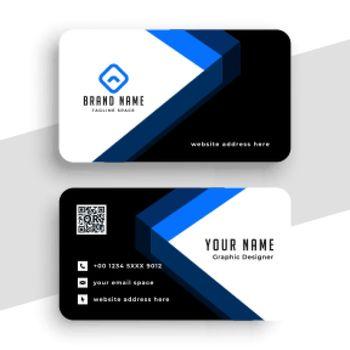 stylish geometric business card design