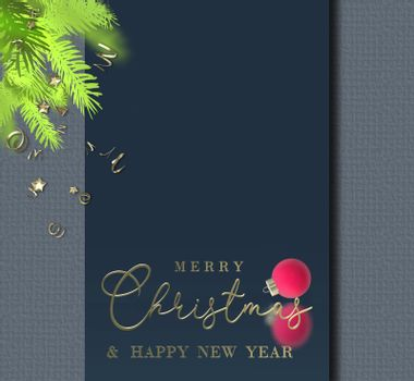 Christmas business corporate card.
