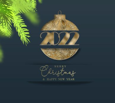 Christmas New Year 2022 background