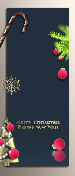 Chritmas New Year vertical poster menu