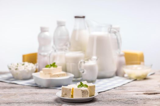 Still life with dairy products