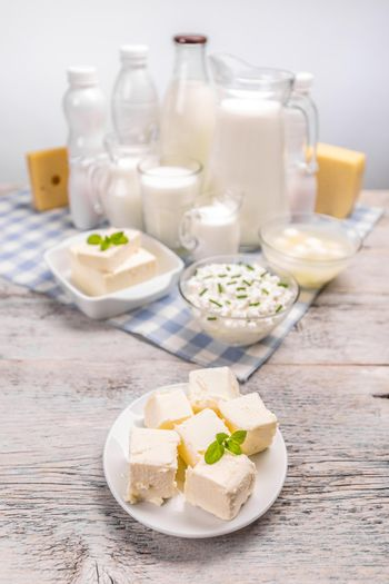 Butter and various dairy products