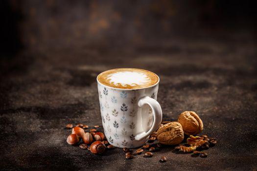 Mug of coffee latte