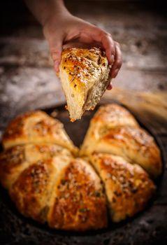 Triangle  bread buns