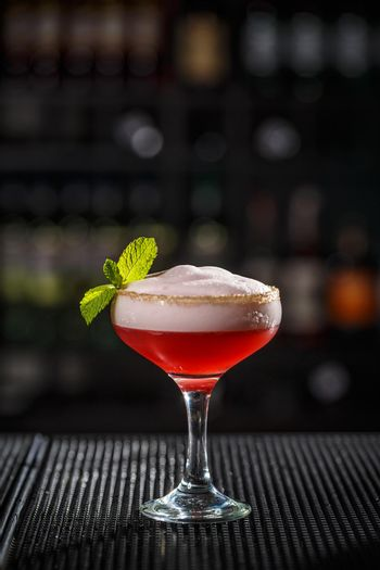 Cocktail with egg foam