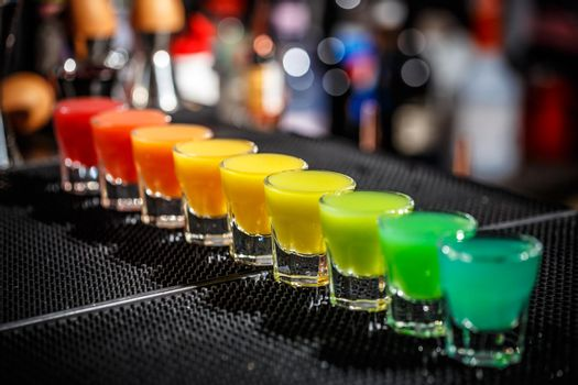 Hard alcoholic shots