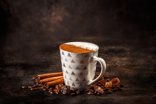 Mug of cappuccino