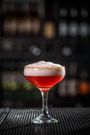 Refreshing alcoholic cocktail