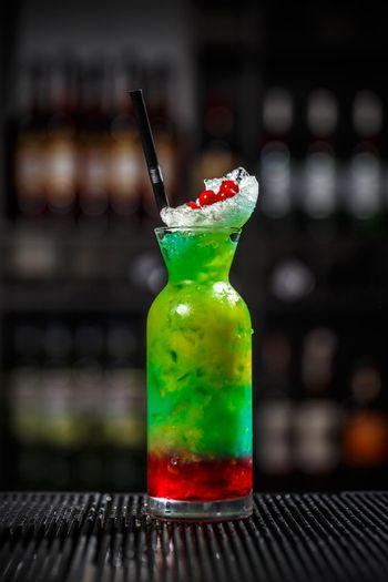 Fancy multicolored cocktail