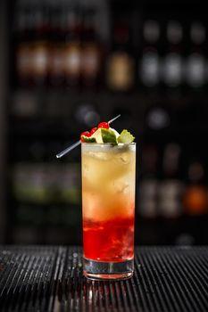 Tasty alcoholic cocktail