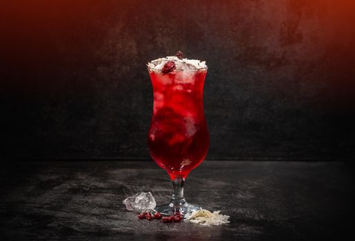 Cold summer berry syrup drink