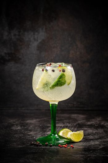 Refreshing summer alcoholic cocktail