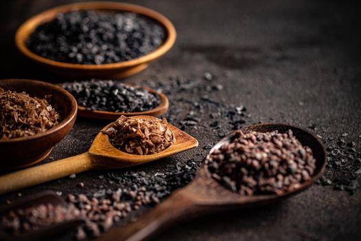 Variety of gourmet salts