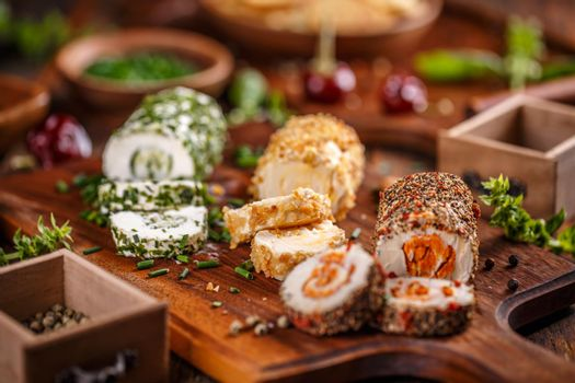3 mini cheese appetizers