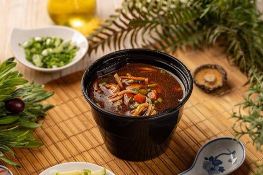 Take out noodle soup