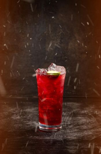 Cocktail with cranberry syrup