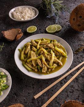 Asian stir fry dish