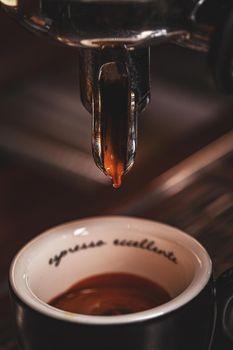 Espresso machine working