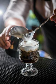 Coffee with irish whiskey