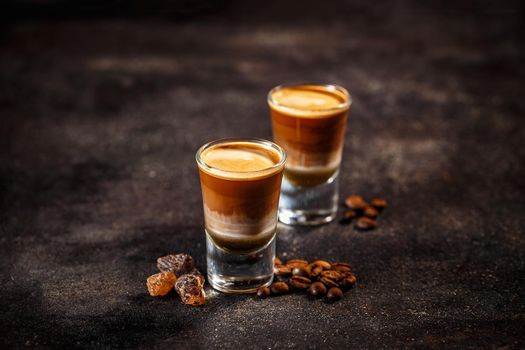 Coffee cocktail with liquor