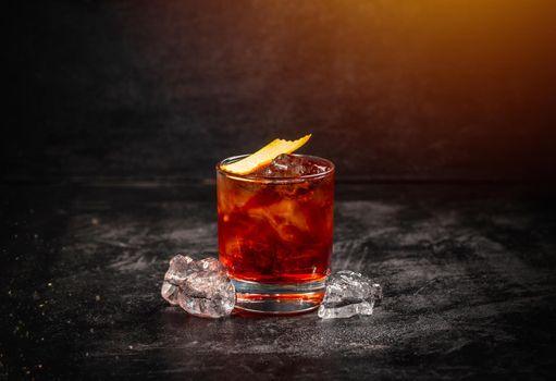 Classic cocktail Negroni