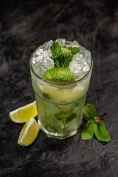 Refreshing mint cocktail mojito