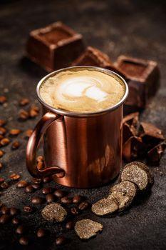 Truffle and chocolate flavored coffee