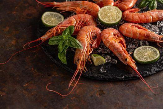 Fresh king shrimps