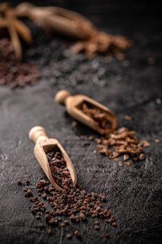 Gourmet salts in scoop