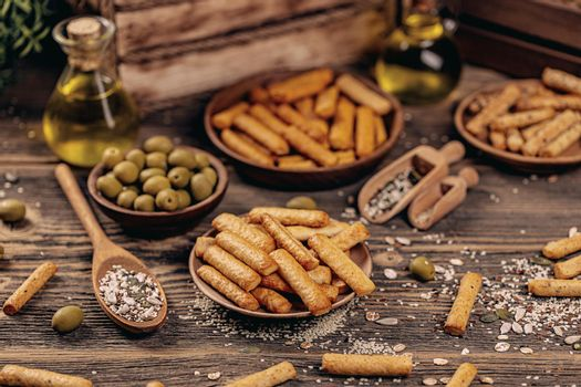 Crunchy bread sticks