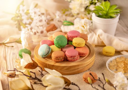 Macarons in a variety of colours