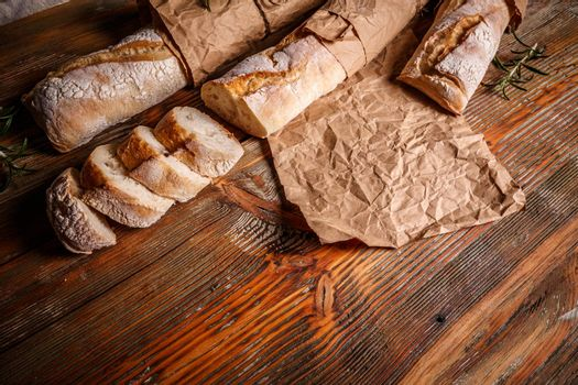 Crusty cereal baguettes