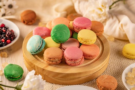 French macarons delicate sandwich cookies