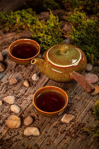 Cup of tea and teapot