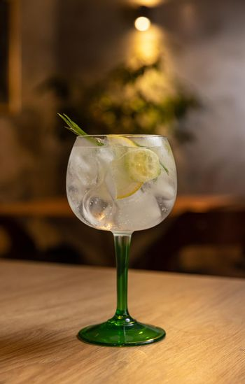 Cold refreshing tonic water