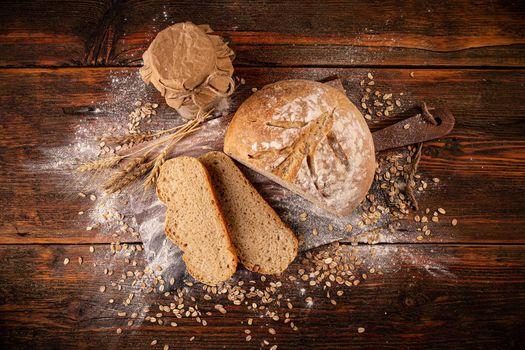 Sourdough loaf of bread
