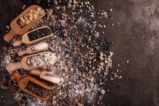 Crystals of gourmet salt