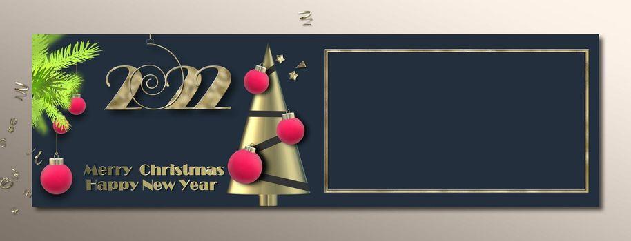 Christmas banner, Festive holiday header design