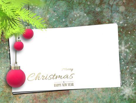 Christmas holiday greetings, mock up.
