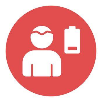 Novel Coronavirus symptoms weakness vector white glyph icon