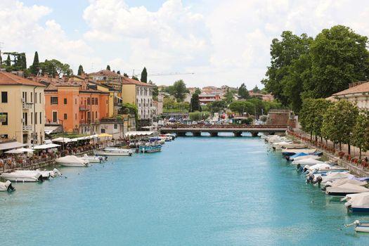 PESCHIERA DEL GARDA, ITALY - JUNE 9, 2020: beautiful historical