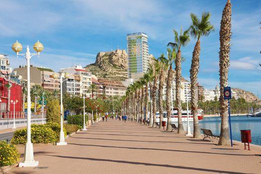 Alicante promenade Mediterranean sea destination in Spain, Europe